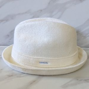 KANGOL Player Off White Wool Cap